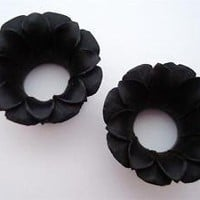1 inch BLOOMING LOTUS FLOWER plugs 25mm organic gauge