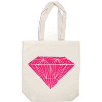 bridesmaid totes - Pink Diamond - canvas tote bags wedding welcome bags