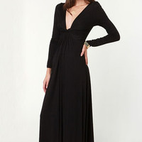 With a Twist Black Maxi Dress