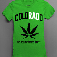 ColoRADo - My New Favorite State - Green Tshirt
