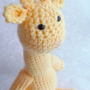 Crochet stuffed animals yellow giraffe 14 by DoodlebugCrochet
