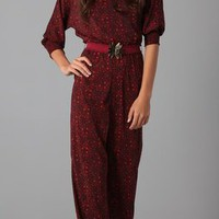 Alice + Olivia Leiby Wide Leg Jumpsuit
