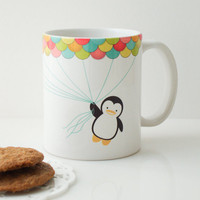 Fly High Penguin Mug Cup