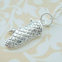 OVEN MITT - Silver Plated Charm