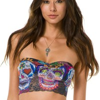 PRIVATE ARTS DAY OF THE DEAD BANDEAU TOP | Swell.com