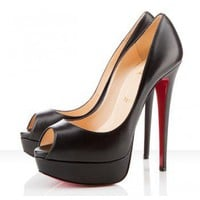 Christian Louboutin Lady Peep 140mm &amp;#36;199,distinguished shoes brand on-line shop, such as louboutins, Gianmarco Lorenzi, Alaia?Alexander McQueen.