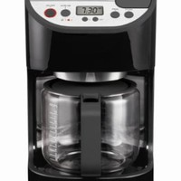 KRUPS KM611850 12-Cup Precision Coffee Maker with Glass Carafe, Black