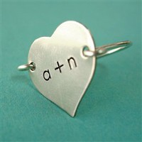 Heart Initials Ring - Spiffing Jewelry