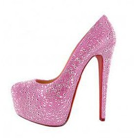 Christian Louboutin Daffodile Platform Pumps Red [20111014] - &amp;#36;248.00 : shoesoutletus.com, shoesoutletus.com
