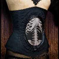 Custom Nouveau Skeleton - Victorian Anatomical Medical Corset