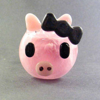 Glass Pipe - Pink Piggy -Hedcraft Glassworks- Custom Made to Order