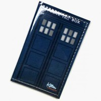 TARDIS Dr. Who Vinyl Passport Cover