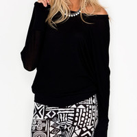 long-sleeve-dolman-top BLACK TAUPE - GoJane.com