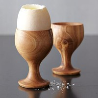 Olive Wood Egg Cups | west elm