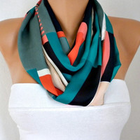 Chevron - Infinity Scarf Shawl Circle Scarf  Loop  Scarf Gift -fatwoman