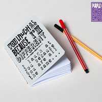 "Handmade notebook ""Laugh at me"""