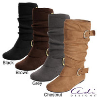 Glaze by Adi Women&#x27;s Faux Suede Slouchy Boot | Overstock.com