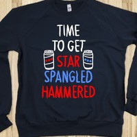 TIME TO GET STAR SPANGLE HAMMERED (SWEATSHIRT)