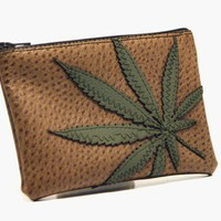 marijuana leaf zippered pouch  every day should by SnapDragonStyle