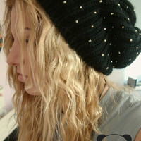 Black And Gold Beanie
