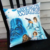 STAR WARS DARTH VADER LUKE SKYWALKER Vintage Fabric Pillow Case
