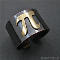 Brass Pi Adjustable Ring