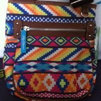 $25 NEW Lily Bloom #Tribal Print Crossbody Purse | Made From #Recycled Materials