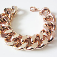 Oversize Chunky Rose Gold Chain Bracelet