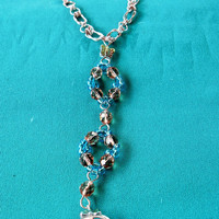Anklet with Butterfly Toe Ring Attached