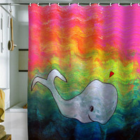 DENY Designs Home Accessories | Sophia Buddenhagen I Whale Always Remember You Shower Curtain