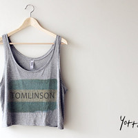 Women Cropped Tank Top-Tomlinson/One Direction/1D Tank Top