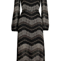 Oasis Dresses | Multi Black 70s Lurex Chevron Midi Dress | Womens Fashion Clothing | Oasis Stores UK