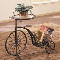 Powell Rust Tricycle Table | Wayfair
