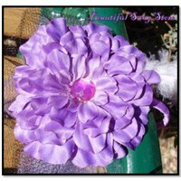 Purple Flower Fascinator Headband