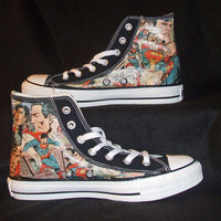 Superman - DC Comics - Comic Book Shoes - Geekery Clothing Shoes - Converse Chuck Taylor AllStars