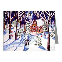 Magic Snowmen Note Cards (Pk of 20)> Greeting Cards Post Cards Note Cards> Renie Britenbucher Artwork