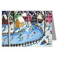 Winter Fun Greeting Cards (Pk of 10)> Greeting Cards Post Cards Note Cards> Renie Britenbucher Artwork