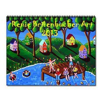 Whimsical Kids Folk Art Wall Calendar> Calendars > Renie Britenbucher Artwork