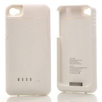 Amazon.com: ATC Super Quality External 1900mah Battery Pack Power Station for Apple Iphone 4/4S with Protective Back Cover Go Portable Case Charger for At&amp;t and Verizon (White): Cell Phones &amp; Accessories