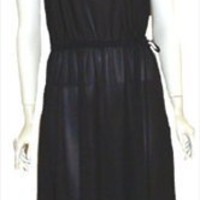 Vintage Clothing 1970s Black Disco Dress