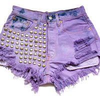 High waist denim shorts S