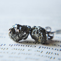 Pyrite Cluster Earrings- Fools Gold - Surgical Steel Earring Posts - Natural Iron