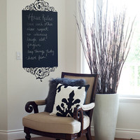Chalk Wall Decal Frame House Rules by urbanwalls on Etsy