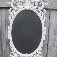 Upcycled Ornate Vintage Wedding Chalkboard by AFreshCoatOfPaint
