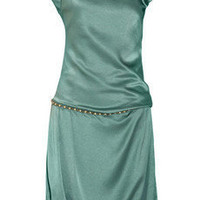 Alberta Ferretti Embellished hammered-silk dress - 70% Off Now at THE OUTNET