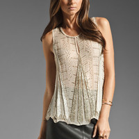 Parker Art Deco Side Detail Tank in Nude from REVOLVEclothing.com