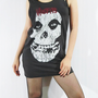 MISFITS THE CRIMSON Horror Punk Hard Core Shirt Vest Tank Top Women Shirt Sleeveless Women T-Shirt Tunic Black Singlet Rock T-Shirt Size M