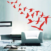 21pcs Flock Of BirdsRemovable Graphic Art wall decals by ccnever