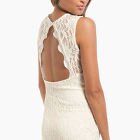 Sweetheart Lace Open Back Dress $40