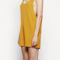 KAHLO Wanton Playsuit // Orange  The End Collective